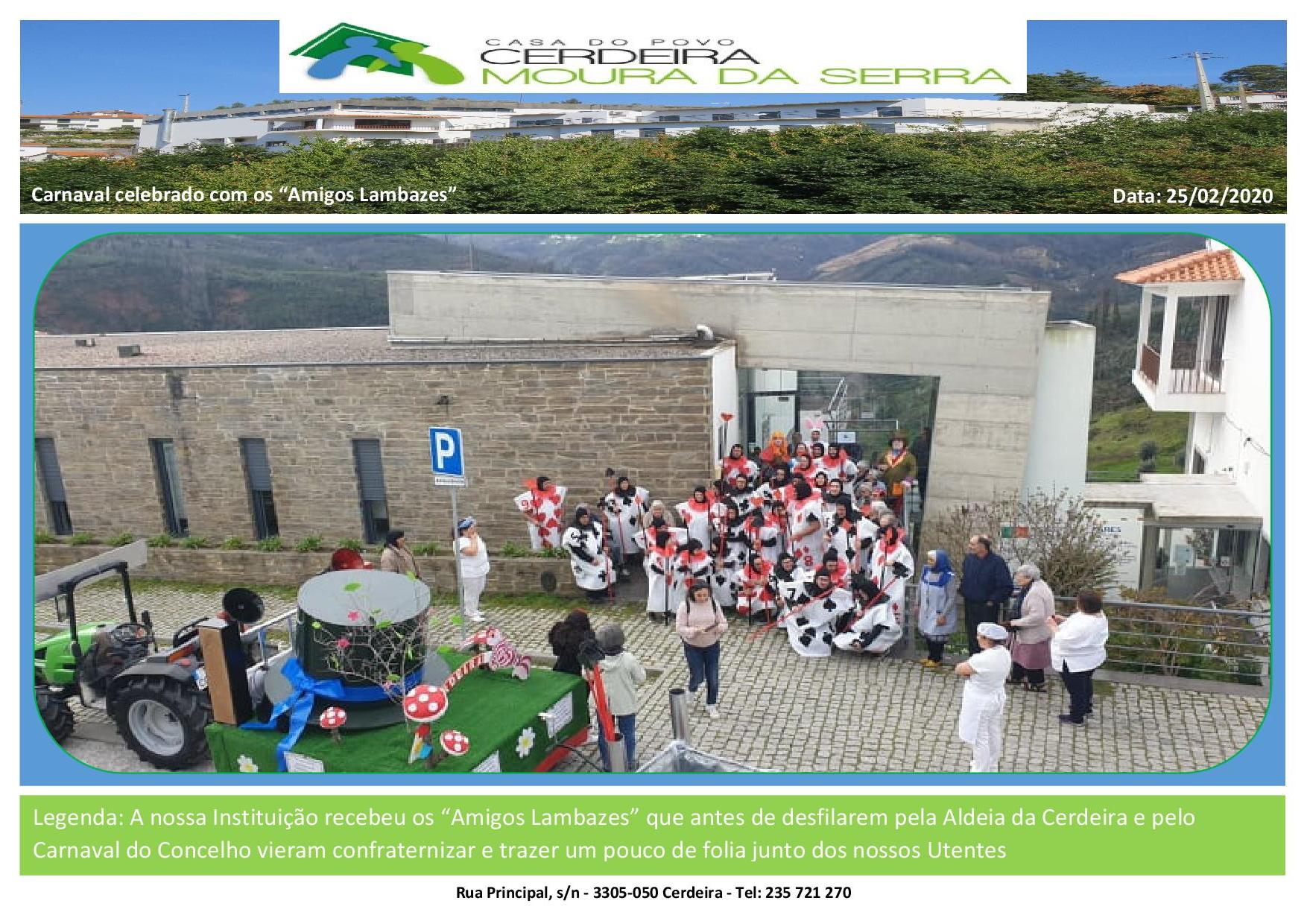 """Carnaval celebrado com os """"Amigos Lambazes"""""""