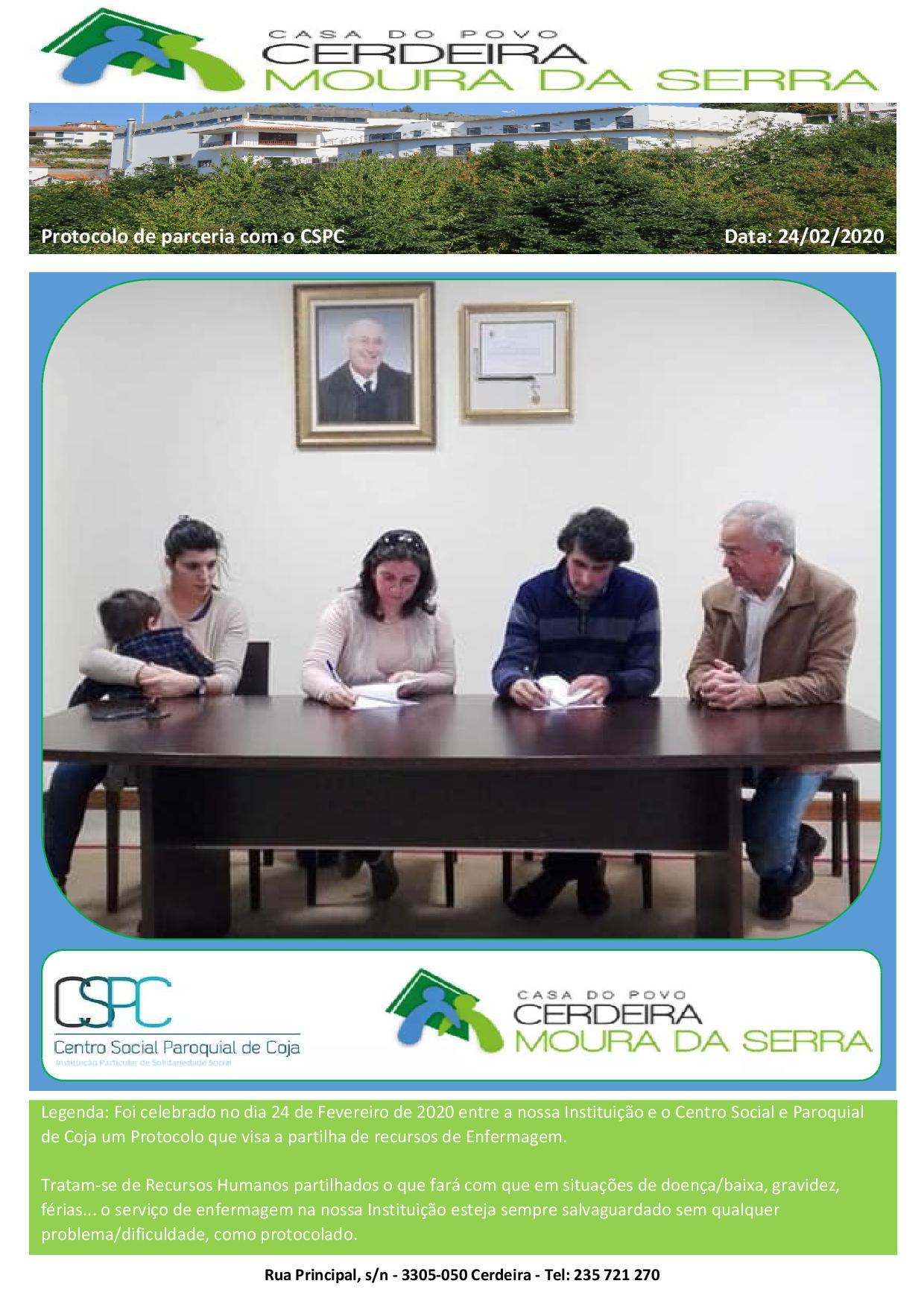 Protocolo de Cooperação com o CSPC