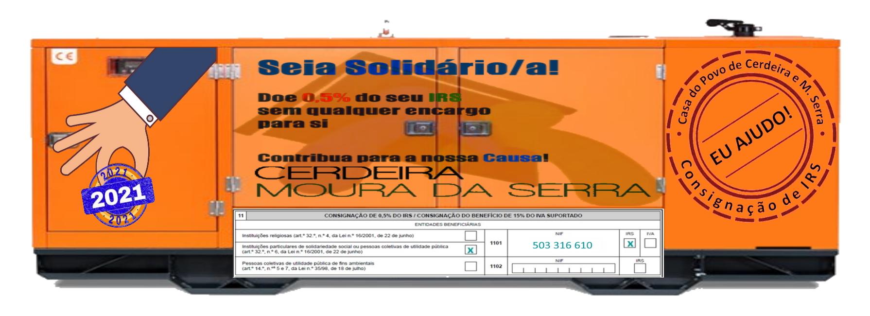 Consignação de IRS à Casa do Povo de Cerdeira e Moura da Serra, I.P.S.S.