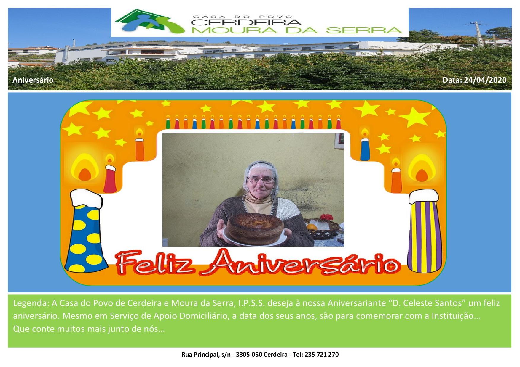 """Feliz aniversário à nossa Utente """"D. Celeste Santos"""""""