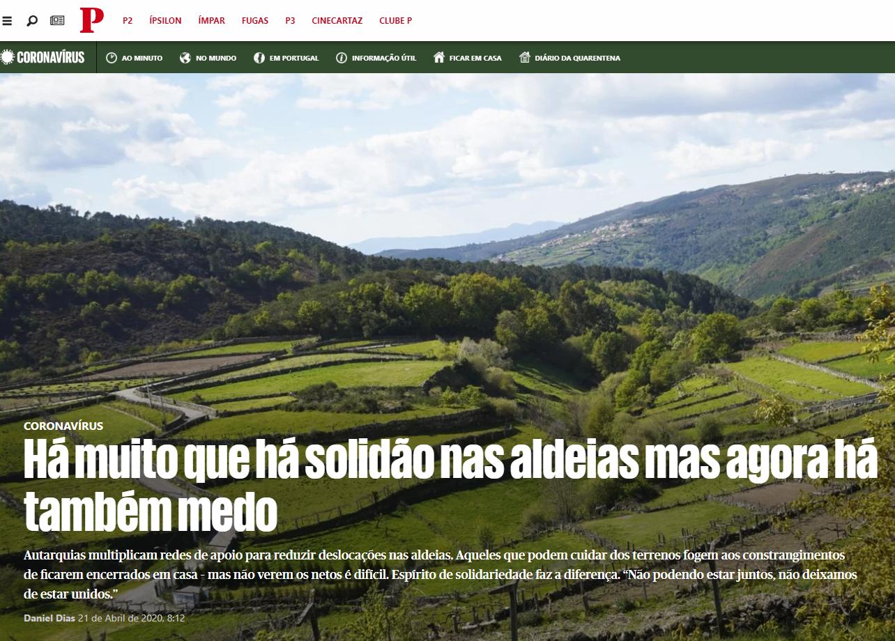 """Casa do Povo de Cerdeira e Moura da Serra,I.P.S.S. – in Jornal """"O Público"""""""
