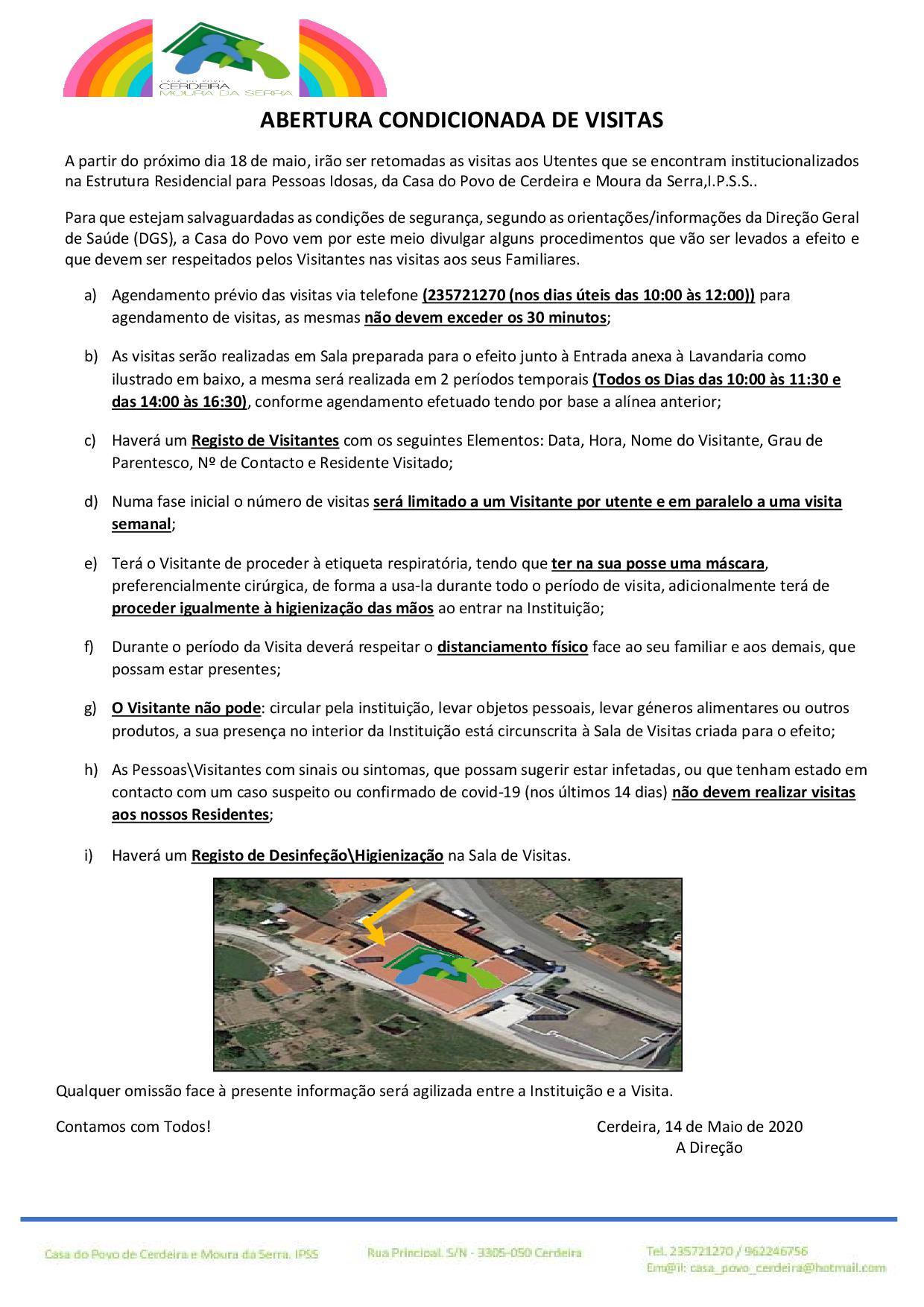 Casa do Povo de Cerdeira e Moura da Serra, I.P.S.S. – ABERTURA CONDICIONADA DE VISITAS