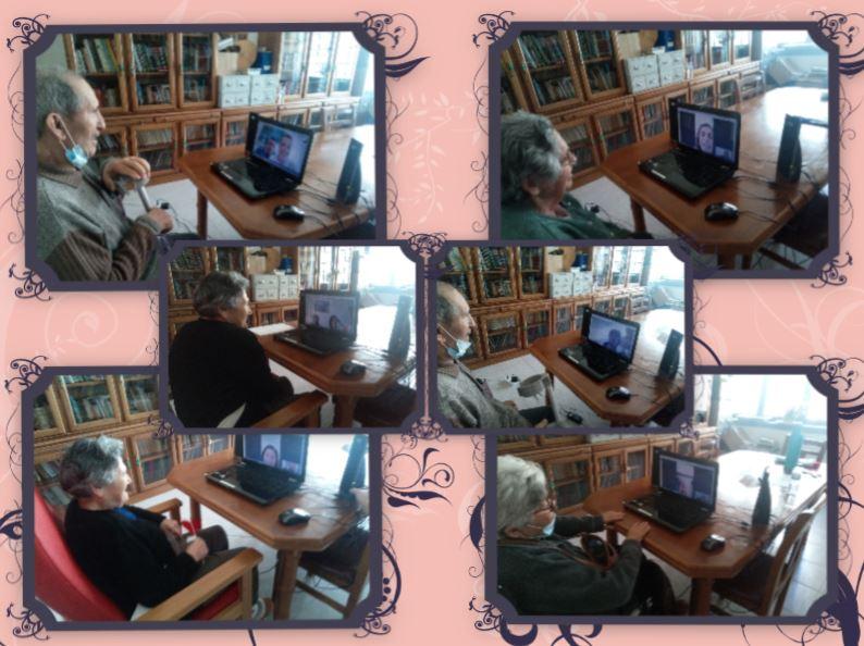Casa do Povo de Cerdeira e Moura da Serra,I.P.S.S. – Dia da Mãe com algumas Videochamadas para os nossos Residentes