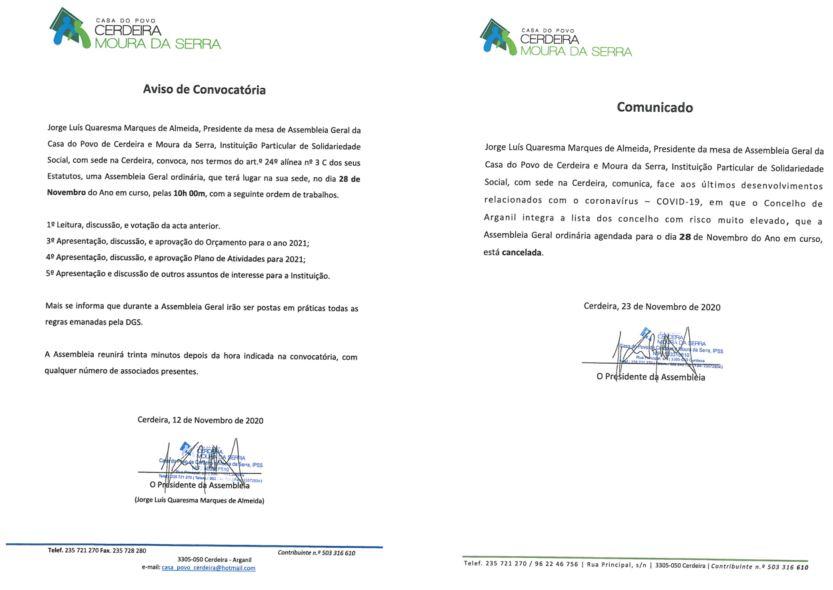 EDITAL DA ASSEMBLEIA GERAL E COMUNICADO DO SEU CANCELAMENTO