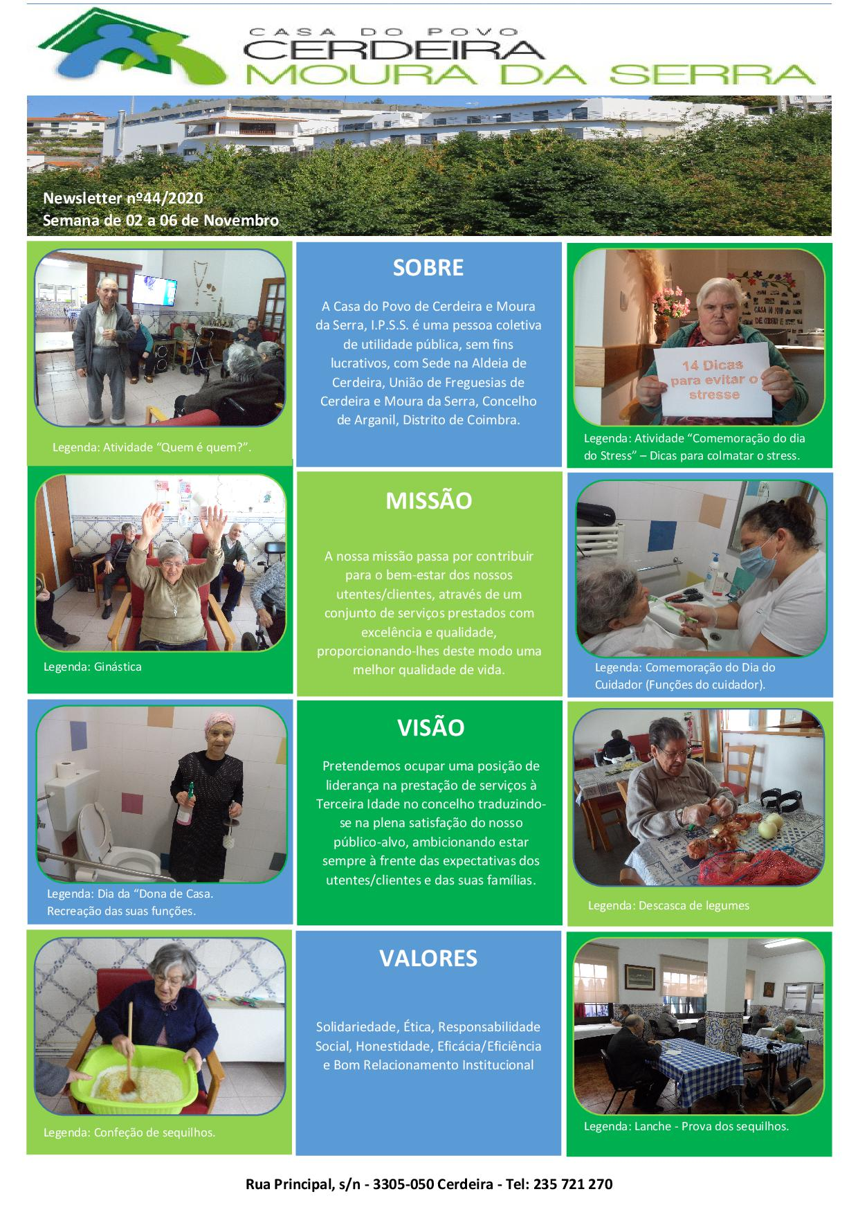 Newsletter nº44/2020