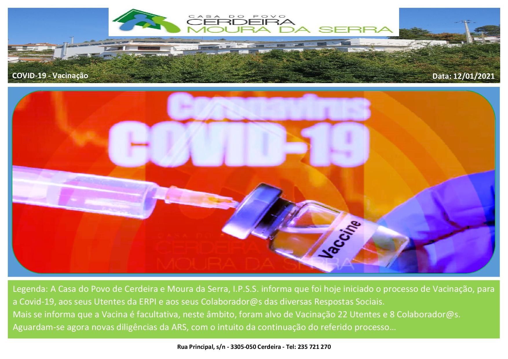 Casa do Povo de Cerdeira e Moura da Serra, I.P.S.S. – Vacinação (Covid-19)