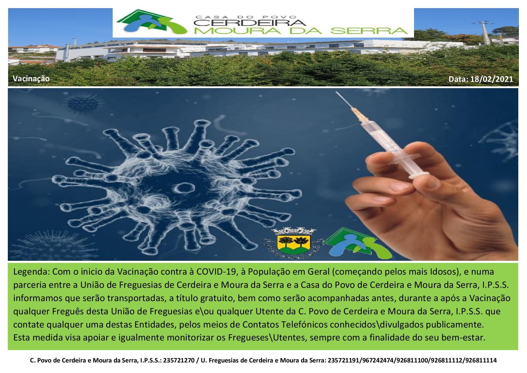 Casa do Povo de Cerdeira e Moura da Serra, I.P.S.S. – Vacinação População